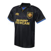 94-95 Manchester United Away Black Retro Jerseys Shirt