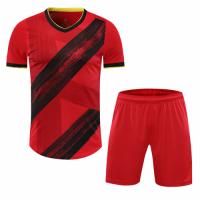Belgium Style Customize Team Red Soccer Jerseys Kit(Shirt+Short)