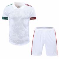 Mexico Style Customize Team White Soccer Jerseys Kit(Shirt+Short)