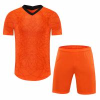 Netherlands Style Customize Team Orange Soccer Jerseys Kit(Shirt+Short)
