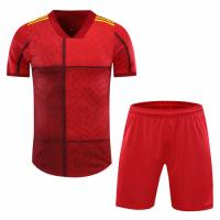 Spain Style Customize Team Red Soccer Jerseys Kit(Shirt+Short)