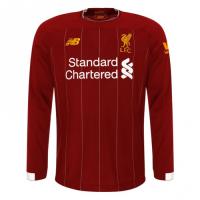 19-20 Liverpool Home Red Long Sleeve Jerseys Shirt