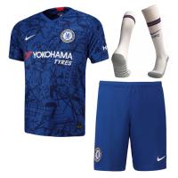 19-20 Chelsea Home Blue Soccer Jerseys Kit(Shirt+Short+Socks)