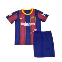 20/21 Barcelona Home Blue&Red Children's Jerseys Kit(Shirt+Short)