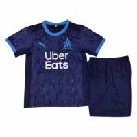 20/21 Marseilles Away Blue Children's Jerseys Kit(Shirt+Short)