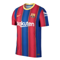 20/21 Barcelona Home Blue&Red Soccer Jerseys Shirt(Player Version)