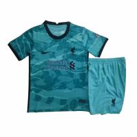 20/21 Liverpool Away Green Children's Jerseys Kit(Shirt+Short)