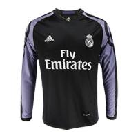 16/17 Real Madrid Third Away Black&Purple Long Sleeve Retro Jerseys Shirt