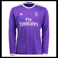 16/17 Real Madrid Away Purple Long Sleeve Retro Jerseys Shirt