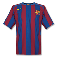 05/06 Barcelona Home Red&Blue Retro Soccer Jerseys Shirt