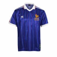 1982 World Cup France Home Blue Retro Soccer Jerseys Shirt