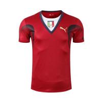 2006 World Cup Champion Italy Goalkeeper Red Retro Soccer Jerseys Shirt