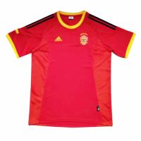 2002 Spain Home Retro Soccer Jerseys Shirt