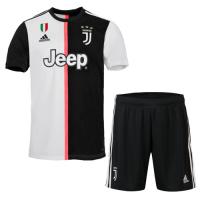 19-20 Juventus Home Black&White Soccer Jerseys Kit(Shirt+Short)