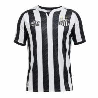 20/21 Santos Away Black&White Soccer Jerseys Shirt