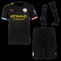 19-20 Manchester City Away Black Jerseys Whole Kit(Shirt+Short+Socks)