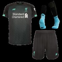 19/20 Liverpool Third Away Black&Green Soccer Jerseys Whole Kit(Shirt+Short+Socks)