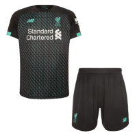 19/20 Liverpool Third Away Black&Green Soccer Jerseys Kit(Shirt+Short)