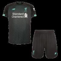 19/20 Liverpool Third Away Black&Green Soccer Jerseys Kit(Shirt+Short)