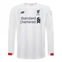 19-20 Liverpool Away White Long Sleeve Jerseys Shirt