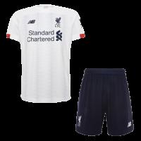 19/20 Liverpool Away White Soccer Jerseys Kit(Shirt+Short)