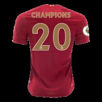 "19/20 Liverpool Home ""Champion #20 Golden"" Soccer Shirt"