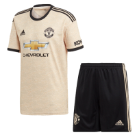 19/20 Manchester United Away Khaki Jerseys Kit(Shirt+Short)
