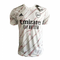 20/21 Arsenal Away White Soccer Jerseys Shirt(Player Version)