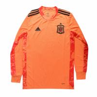 2020 Spain Goalkeeper Pink Long Sleeve Jerseys Shirt