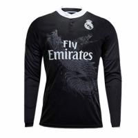 14/15 Real Madrid Away Black Long Sleeve Retro Jerseys Shirt