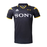 95/97 Juventus Away Black&Yellow Soccer Retro Jerseys Shirt