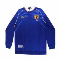 1998 World Cup Japan Home Blue Long Sleeve Retro Jerseys Shirt