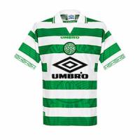 98/99 Celtic Home Green&White Soccer Jerseys Shirt