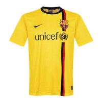 08/09 Barcelona Away Yellow Retro Soccer Jerseys Shirt