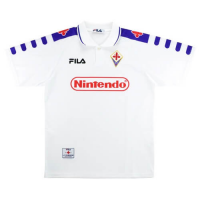 98/99 Fiorentina Away White Retro Soccer Jerseys Shirt