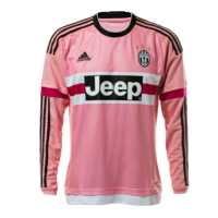 15/16 Juventus Away Pink Soccer Long Sleeve Retro Jerseys Shirt
