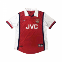 98-99 Arsenal Retro Home Red&White Soccer Jersey Shirt