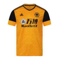20/21 Wolverhampton Wanderers Home Yellow Soccer Jerseys Shirt
