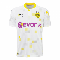 20/21 Borussia Dortmund Cup Away White Soccer Jerseys Shirt