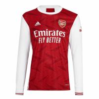 20/21 Arsenal Home Red&White Long Sleeve Soccer Jerseys Shirt