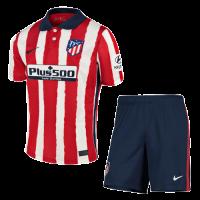 20/21 Atletico Madrid Home Red&White Soccer Jerseys Kit(Shirt+Short)