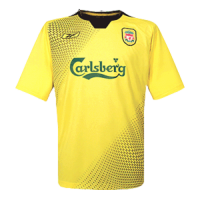 04/05 Liverpool Away Yellow Retro Soccer Jerseys Shirt