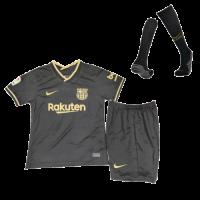 20/21 Barcelona Away Black Children's Jerseys Kit(Shirt+Short+Socks)