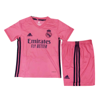20/21 Real Madrid Away Pink Children's Jerseys Kit(Shirt+Short)