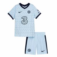 20/21 Chelsea Away Light Blue Children's Jerseys Kit(Shirt+Short)