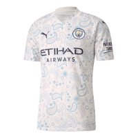 20/21 Manchester City Third Away White Jerseys Shirt(Player Version)