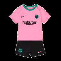 20/21 Barcelona Third Away Pink Children's Jerseys Kit(Shirt+Short)