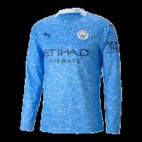 20/21 Manchester City Home Blue Long Sleeve Jerseys Shirt