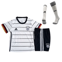 2020 Germany Home White Children's Jerseys Whole Kit(Shirt+Short+Socks)