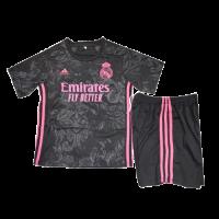 20/21 Real Madrid Third Black Children's Jerseys Kit(Shirt+Short)